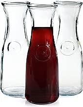 Anchor Hocking 0.5 Liter Glass Wine Carafe, Set of 3