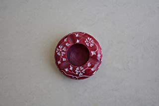 Kunhar Natural Marble Cigarette Ashtray, Red