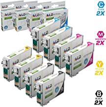 LD Remanufactured Ink Cartridge Replacement for Epson 127 Extra High Yield (2 Black, 2 Cyan, 2 Magenta, 2 Yellow, 8-Pack)