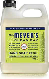 MRS. MEYER'S Clean Day Liquid Hand Soap Refill, Cruelty Free and Biodegradable Hand Wash Made with Essential Oils, Lemon V...