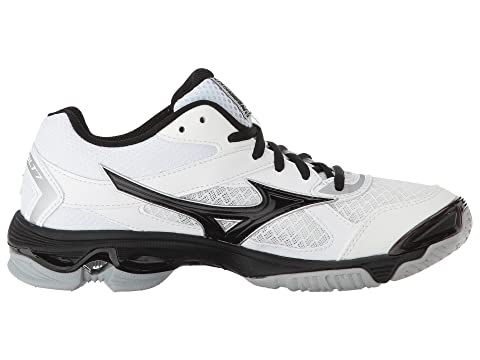 Mizuno Wave Bolt 7 White/Black Choice Online Cheap Sale Store Sale The Cheapest Discount How Much Factory Price J695z5Kltt