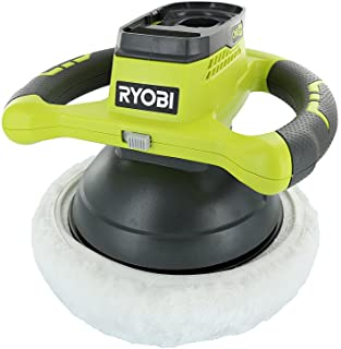 "Ryobi P435 One+ 18V Lithium Ion 10"" 2500 RPM Cordless Orbital Buffer/Polisher with 2 Bonnets (Battery Not Included, Power ..."