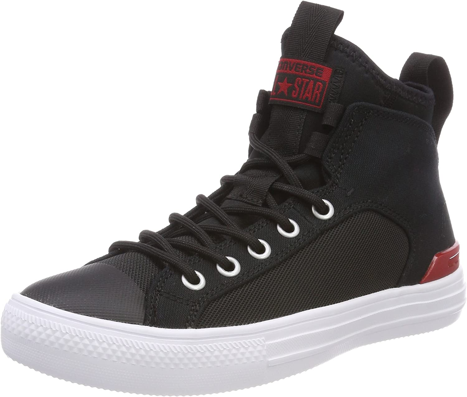 Converse Unisex Adults' CTAS Ultra Mid Black Gym Red White Hi-Top Trainers