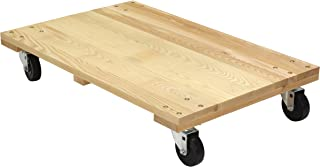 Vestil HDOS-2436-12 Solid Deck Hardwood Dolly with Hard Rubber Casters, 1200 lbs Capacity, 36