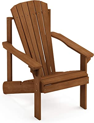 Furinno FG18921 Tioman Hardwood Furniture Small Adirondack Patio Chair, Natural