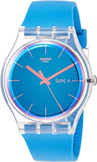 Men's Quartz Watch with Silicone Strap, Blue, 20 (Model:...