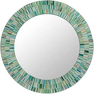 NOVICA MI0033 Aqua Fantasy' Mosaic Glass Mirror