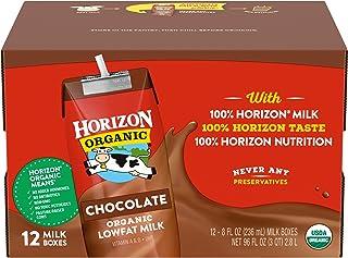 Horizon Organic Shelf-Stable 1% Lowfat Milk Boxes, Chocolate, 8 Fl Oz (Pack of 12)