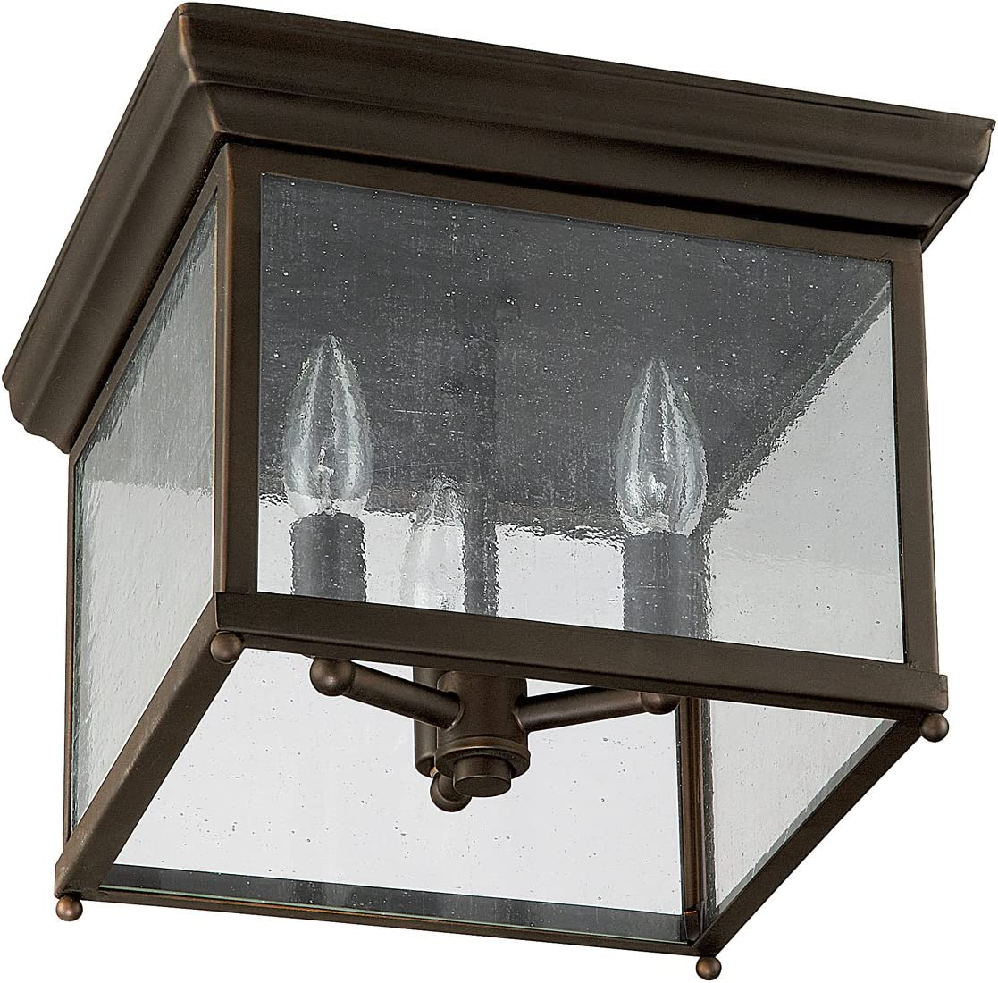 Capital Selling rankings Discount mail order Lighting 9546OB Traditional 3-Light Old Flush Mount Bro