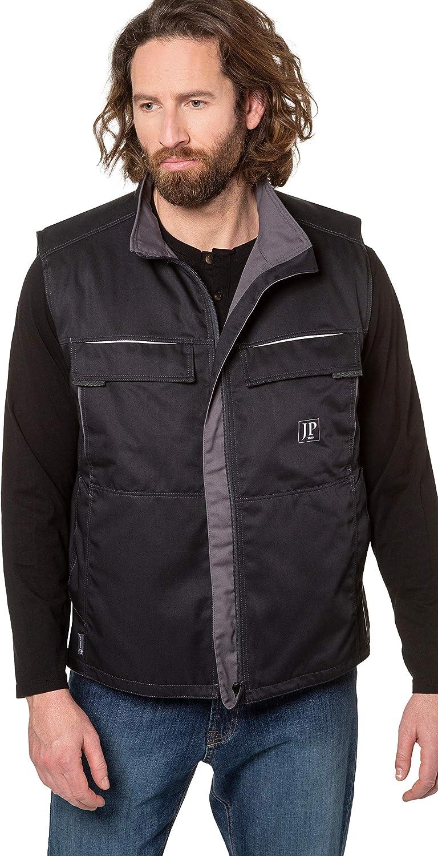 JP 1880 Menswear Big & Tall Plus Size L-8XL Greybull Workwear Vest Black XXXXX-Large 728527 10