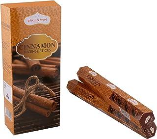 Shubhkart Cinnamon Incense Sticks - (Pack of 6 Tubes Inside The Box) 120 Sticks