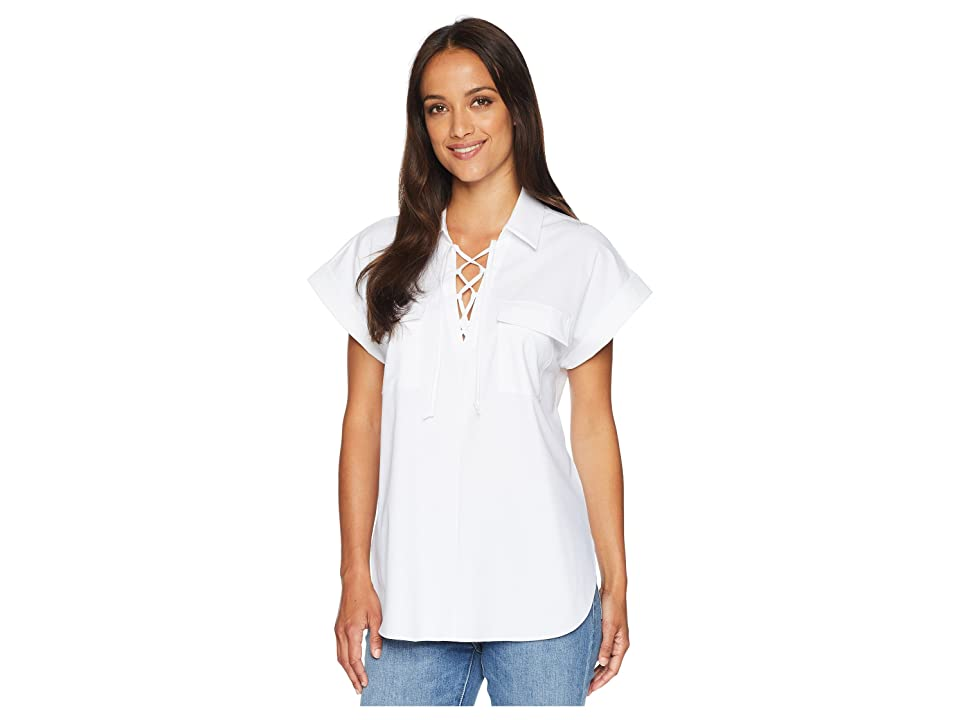 Lysse Clio Pop-Over Top (White) Women