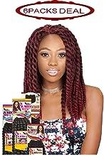 EVE HAIR African Nature Braid - Individual Crochet - Kanekalon Toyokalon & Premium Fiber Blended 2X Thickness Jumbo Twist Braiding Hair - 10 Inches - Color: 30 (Pack of 6)