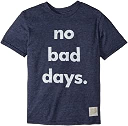 The Original Retro Brand Kids - No Bad Days Short Sleeve Tri-Blend Tee (Big Kids)