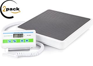 Physician Heavy Weight Medical Floor Scales: Digital Easy Read and High Capacity Health and Fitness Portable Scales with Battery and AC Adapter - 550 Pound / 249 Kilogram Limit (2 Pack)