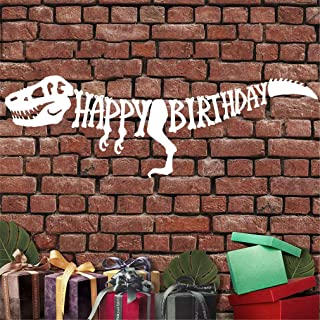 Super Cute Dinosaur Happy Birthday Banner – Dinosaur Party Decorations – T-Rex Raptor Design Dinosaur Supplies – Great Dino Theme Birthday Party Favors for Kids – Large and Pre-Assembled
