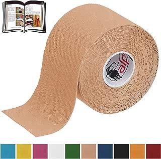BB Sport 1 Rollo Cinta Kinesiología Tape 5 m x 5 cm Cinta Muscular E- Book Ejemplos Aplicación, Color:de color carne