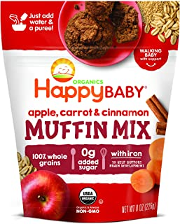 Happy Baby Organics Muffin Mix, Apple Carrot & Cinnamon, 8 Ounce Pouch (Pack of 1)