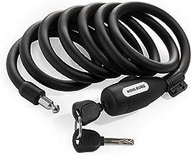 KOHLBURG kabelslot 200 cm lang - eenvoudig te sluiten zonder sleutel - slot voor een fiets met houder - spiraalslot als fi...