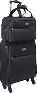 Cabin Max® Copenhagen Hand Luggage Suitcases with Wheels Lightweight and Spacious Luggage Set - Trolley Suitcase Capacity ...