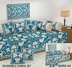 Fresh From Loom Reversible 500 TC, Velvet Chenille Fabric Diwan Set -8 Pieces