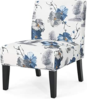 Christopher Knight Home Kendal Traditional Fabric Accent Chair, Print, Matte Black