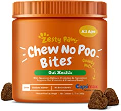 Zesty Paws Chew No Poo Bites - Coprophagia Stool Eating Deterrent for Dogs - Deter & Stop Dog from Eating Feces - Probiotic & Digestive Enzymes - Breath Freshener - Chicken Flavor, 90 Soft Chews