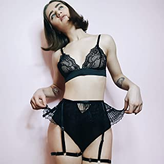 1bf98ca5e ♥BUY 2 GET 3♥ Harness Lace Lingerie Women Strappy Bralette See Through  Thong Brazilian