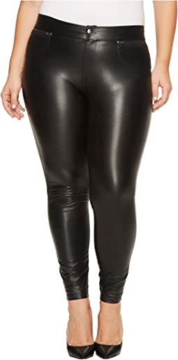 HUE - Plus Size Leatherette Leggings