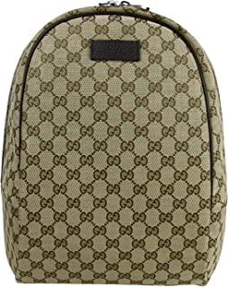 1eef2ed0796c Gucci Unisex Zipper Top Beige/Brown GG Canvas Backpack 449906 9873
