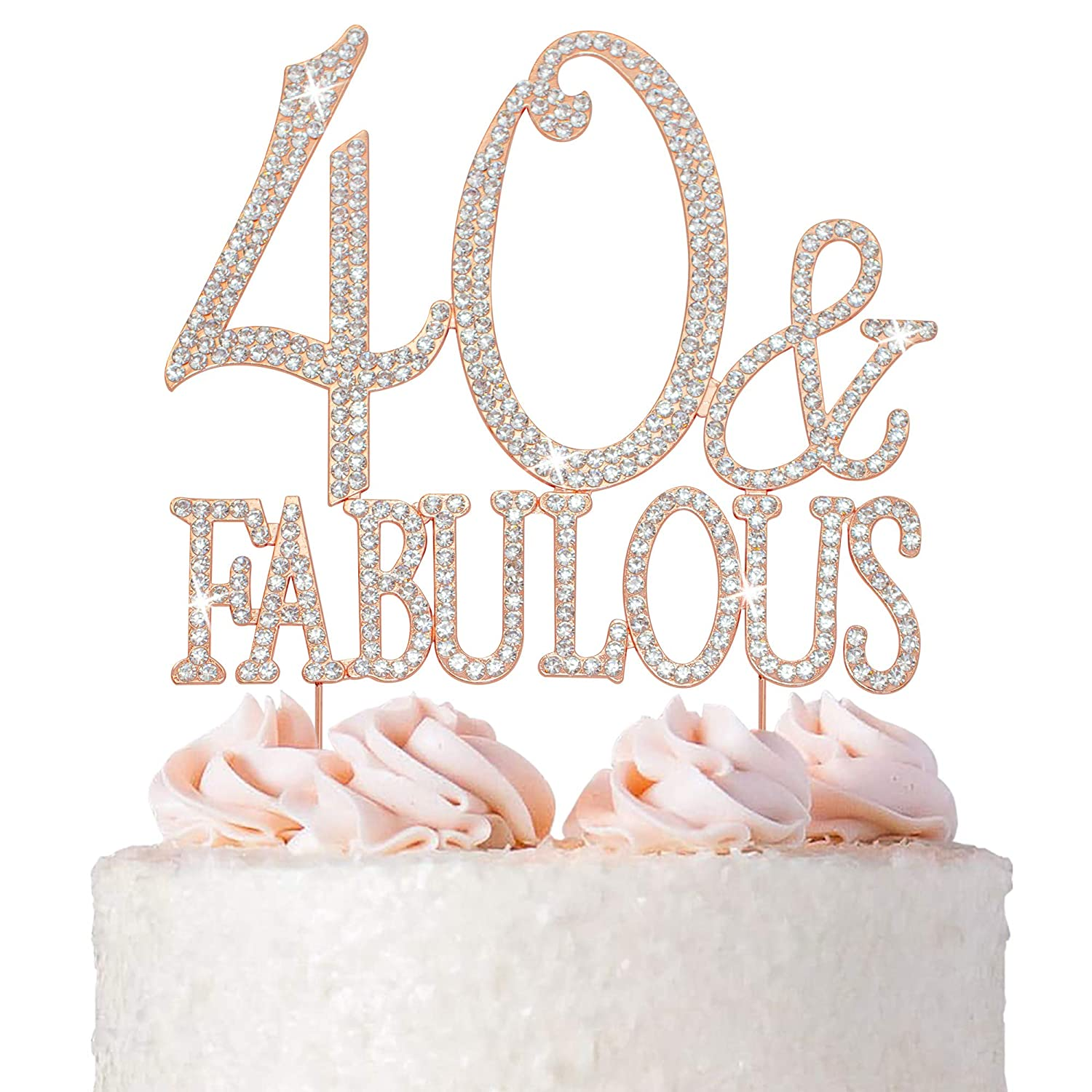 40 Cake Topper Animer and Some reservation price revision - Premium Rose 40t Gold Fabulous Metal