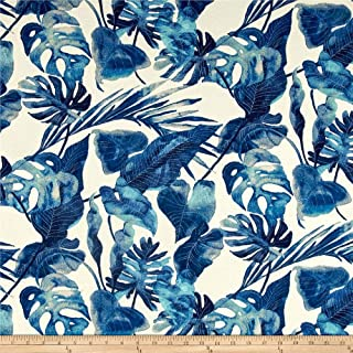 Tommy Bahama 0510863 Indoor/Outdoor Inky Palms Indigo Fabric by the Yard