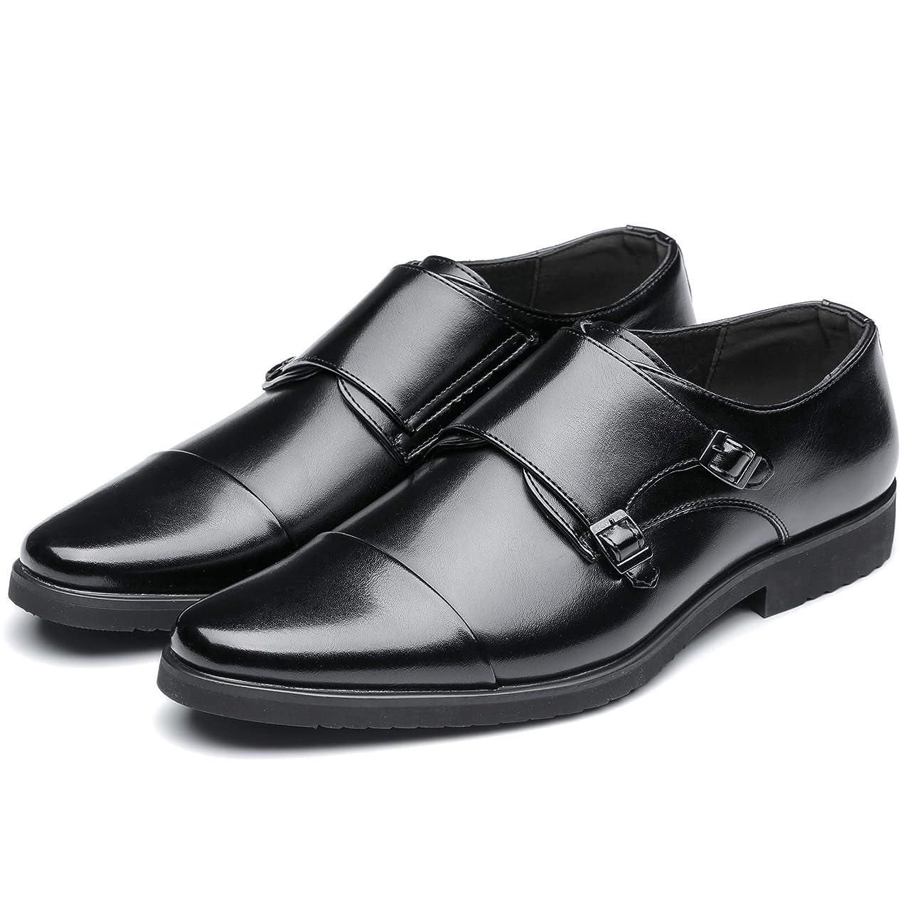 可動迷路規模ビジネス レザーシューズ 革靴 メンズ 通気性 紳士靴 ビジネス メンズ ビジネスシューズ