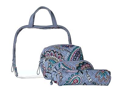 Vera Bradley Iconic Four-Piece Cosmetic Set (Makani Paisley) Cosmetic Case