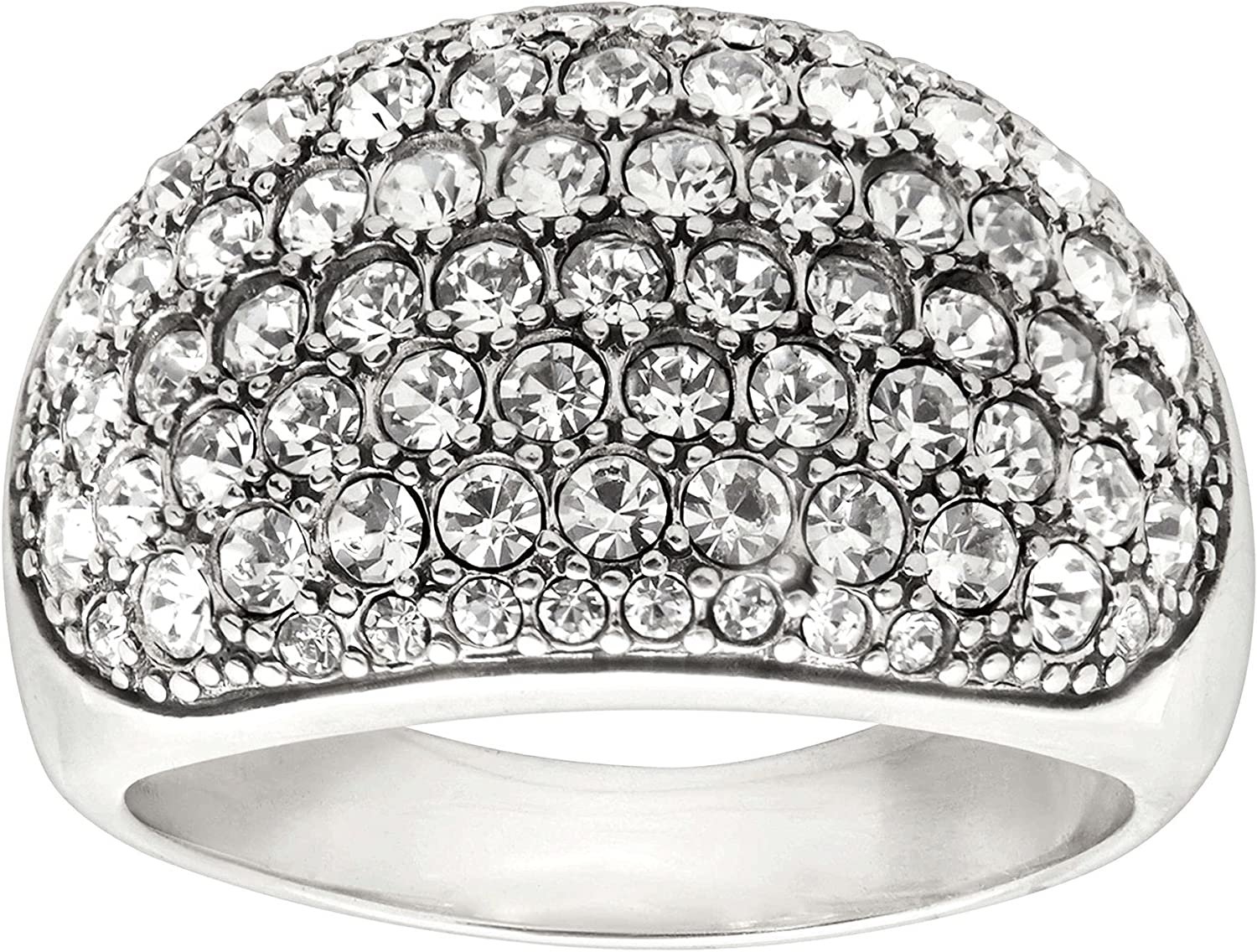 Silpada Large special price !! 'Embellished Pav�' Popular shop is the lowest price challenge Ring with in Sterling Silv Crystals