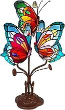 World Art Vlinders Tiffany Style nachtlampje, E14, 25 W, meerkleurig