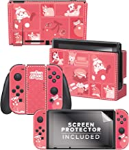 """Controller Gear Aunthentic & Officially Licensed Animal Crossing: New Horizon - """"Quilted Tone"""" Nintendo Switch Skin Bundle"""