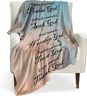 BOOPBEEP Bible Verse Soft Throw Blanket with Inspirational Thoughts and Prayers- Religious Throw Blanket Inspirational Bla...
