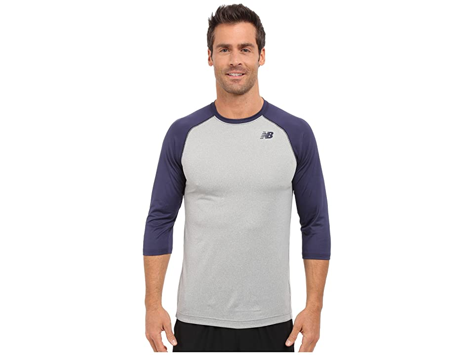 New Balance 3/4 Baseball Raglan (Team Navy) Men