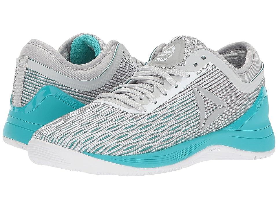 Reebok CrossFit(r) Nano 8.0 (White/Stark Grey/Grey/Classic White/Turquoise) Women