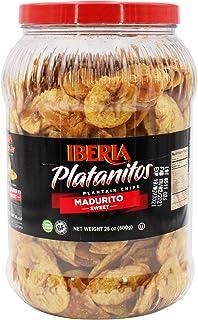 Sponsored Ad - Iberia Naturally Sweet Plantain Chips Jar, 28 Ounce (1.75 lb), Maduritos, NON GMO, Gluten Free, Kosher