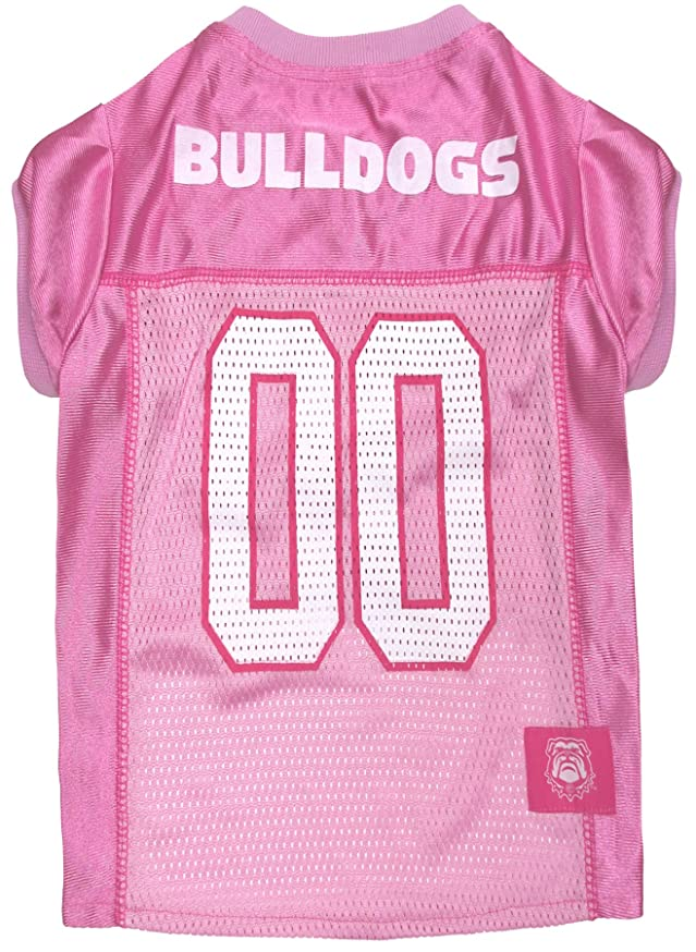 NCAA Dog Pink Football Jersey - Pet Pink Sports Outfit