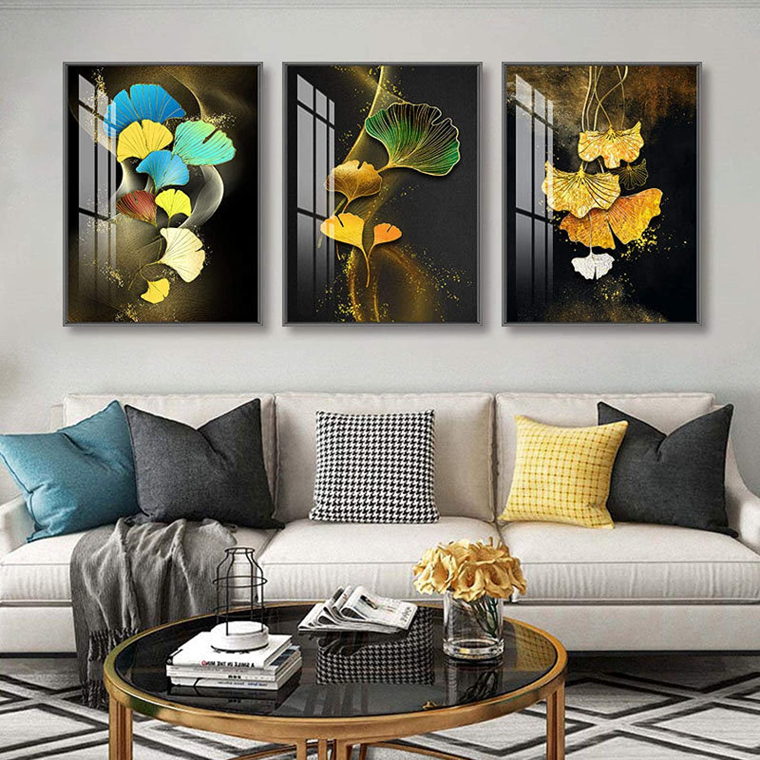Wall Poster Abstract Golden New Max 52% OFF arrival Plant Canvas P Leaves Nordic Picture