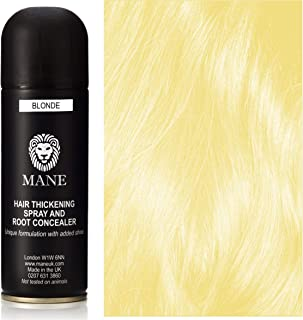 Blond - Hair Thickening Spray with added shine by Mane UK - for Hair Loss and Thinning Hair and to cover roots