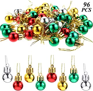 96 Pieces Christmas Balls Xmas Tree Ornaments Shatterproof Hanging Balls Exquisite Colorful Ball Decoration Pendant for Holiday Party Decor