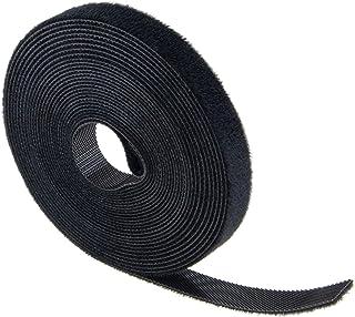 Velcro kabelbinders - 12,5 mm x 5 m - klittenband voor kabel - op maat te snijden, zwart
