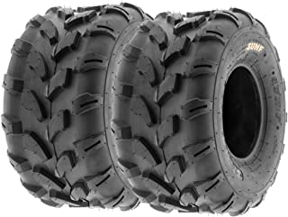 SunF A003 ATV/UTV/Lawn-Mowers Off-Road Tire 20x10-8, 6 PR, Directional Tread (Pair of 2)
