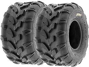 SunF A003 ATV/UTV/Lawn-Mowers Off-Road Tire 20x10-8, 6 PR, Directional Tread (Pair of 2)