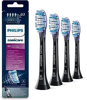 Philips 飞利浦 Sonicare HX9064/33 Original Premium Gum Care 白色刷头 适用于 DiamondClean Smart 牙刷 4 件装 黑色