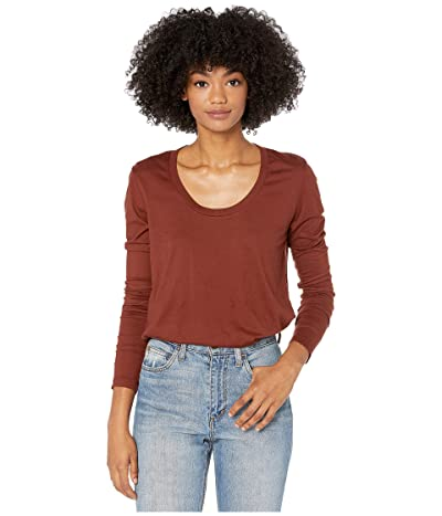 AG Adriano Goldschmied Cambria Long Sleeve Tee (Rich Crimson) Women